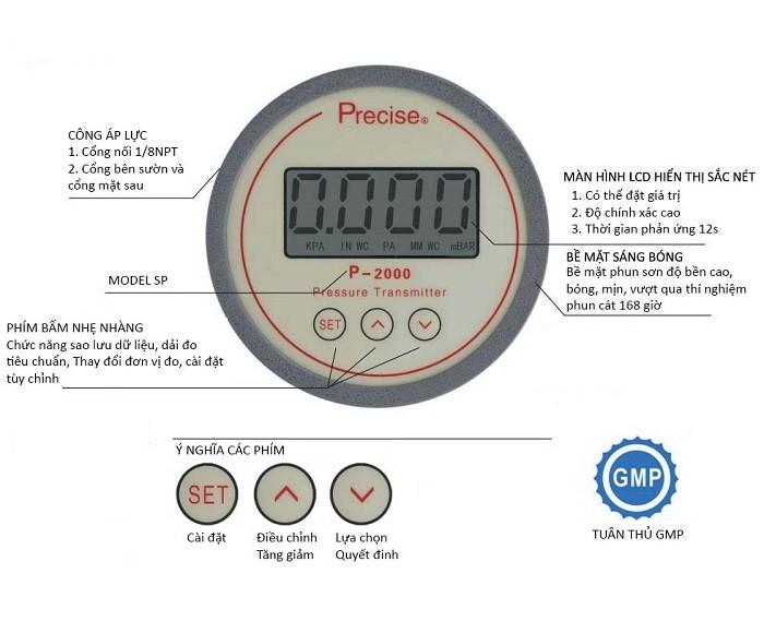 Đồng hồ đo chênh lệch áp suất điện tử