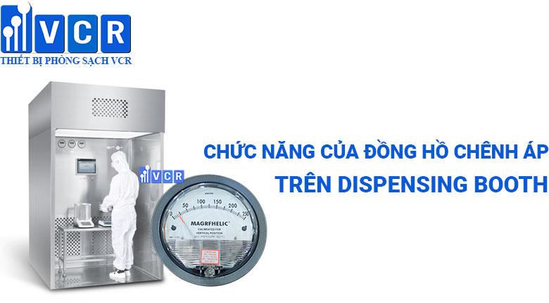 đồng hồ chênh áp trong dispensing booth